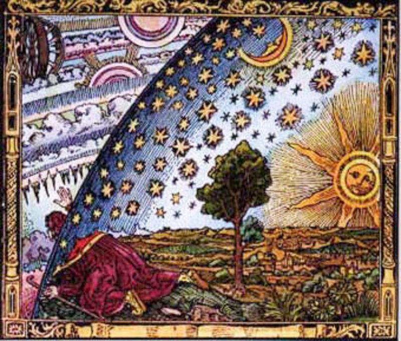 Bild mittelalterliches Himmelsgewölbe frabig