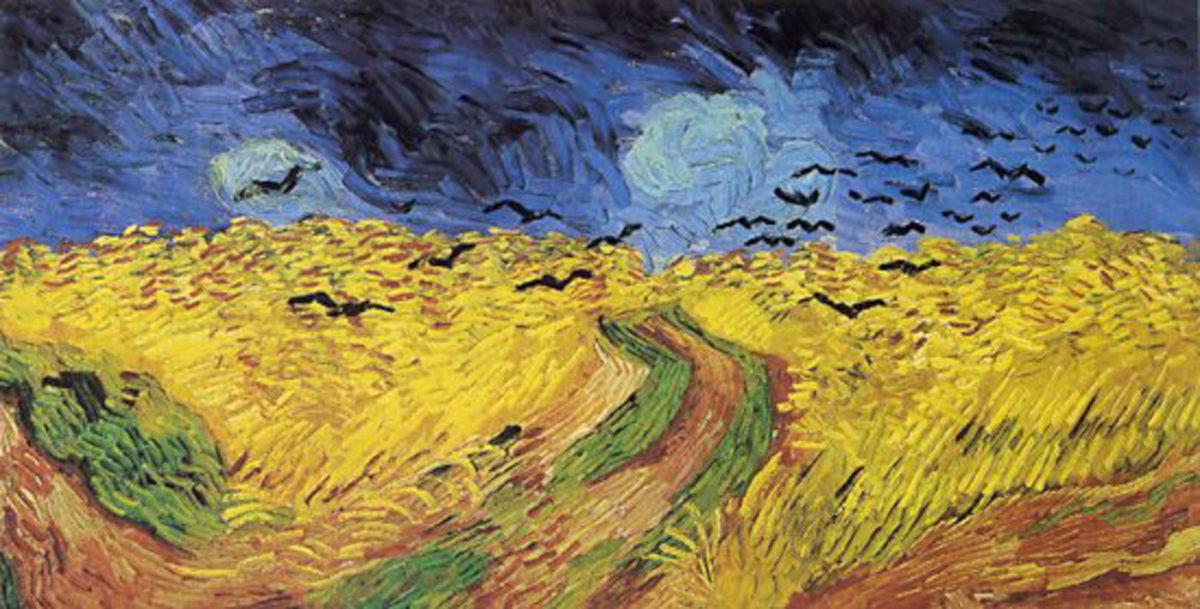 Abb. Vincent Van Gogh, Weizenfeld mit Raben, Auvers sur Oise, Juli 1890
